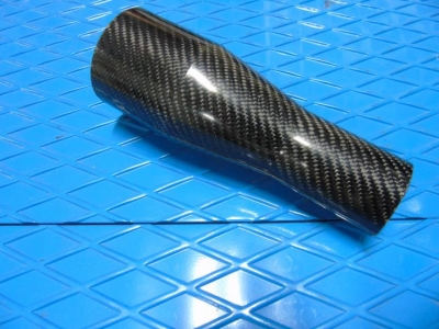 Tapered carbon fiber turbo tube